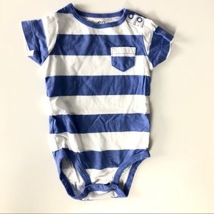 Carters blue stripe onesie like new